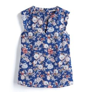 Scalloped Cap Sleeve | Floral blouse